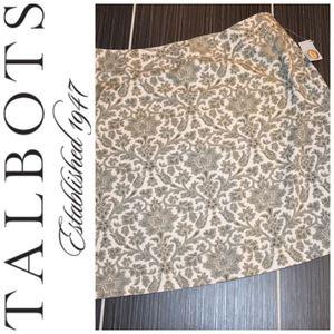 Talbots Damask Print Skirt Size 14P NWT